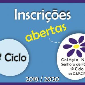 Inscrições para o 1º Ciclo do Colégio Nossa Senhora de Fátima